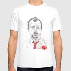 Shaun of the Dead MEDIUM Mens Fitted Tee White