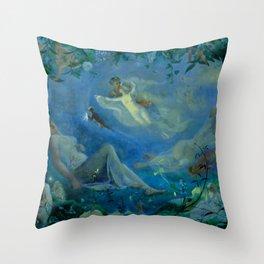 """John Simmons """"Scene from 'A Midsummer Night's Dream'"""" Throw Pillow"""