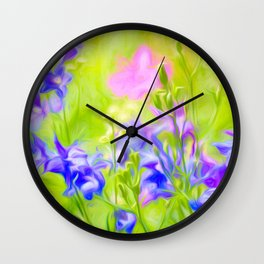 Delphinium Meadow Wall Clock