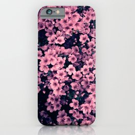 Many pink flowers - a flower bush iPhone Case