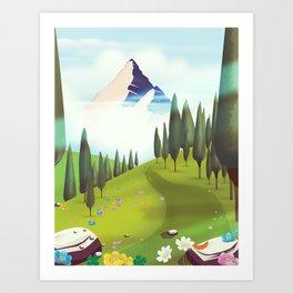 Alpine Meadow landscape Art Print