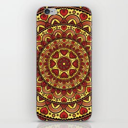Mandala _ HEARTS iPhone Skin