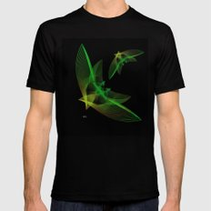 In Flight 4 of 5 Series MEDIUM Black Mens Fitted Tee