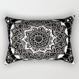 B&W Mandala Rectangular Pillow