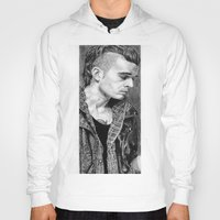 matty healy Hoodies featuring Matty Healy by rachelmbrady_art