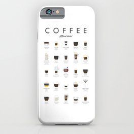 Coffee Chart - Mixed Drinks iPhone Case