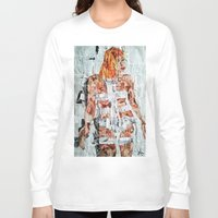 fifth element Long Sleeve T-shirts featuring LEELOO THE FIFTH ELEMENT by JANUARY FROST