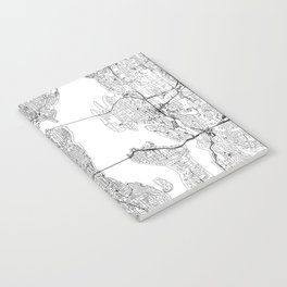 Seattle White Map Notebook