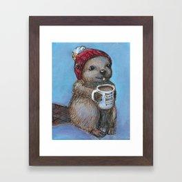 Canadian Beaver Framed Art Print
