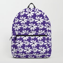 Summer Daisies on Purple Backpack