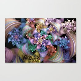Bright Taffy Spiral Canvas Print