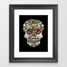 El dia de los muertos (Skull) Framed Art Print