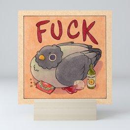 'Fuck' Pigeon 05 Mini Art Print