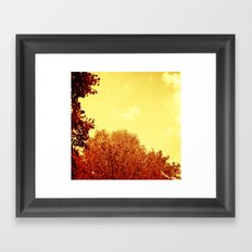 RED SCALE Framed Art Print