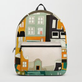 Amsterdam travel city shapes abstract Backpack