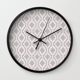 Mapuche Pink and Grey Wall Clock