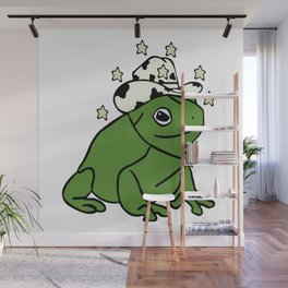 Frog with a cowboy hat Wall Mural