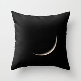 Waxing Crescent Throw Pillow