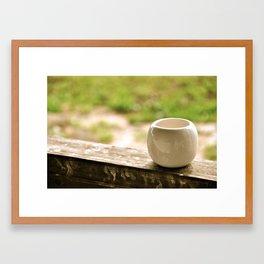 A quite morning Framed Art Print