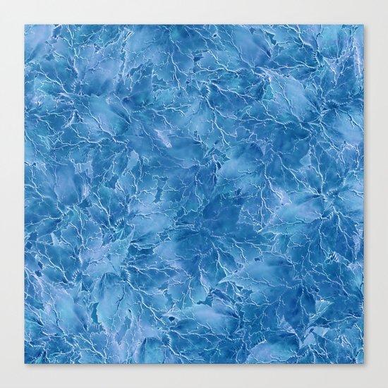 Frozen Leaves 18 Canvas Print