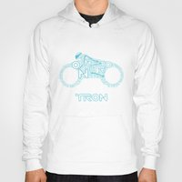 tron Hoodies featuring Tron Legacy: Light Cycle by Divesh Sehgal Design