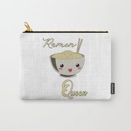 Ramen Queen Japanese Noodles Vintage Retro Style Carry-All Pouch