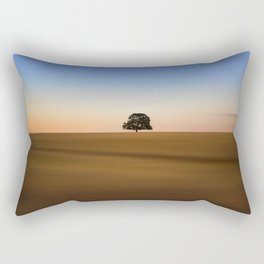 Focus on one thing at a time isolated oak tree Rectangular Pillow