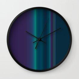 Royal Purple Aqua Stripes Wall Clock