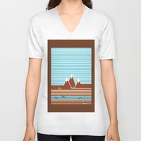 canada V-neck T-shirts featuring Canada. by Grant Pearce