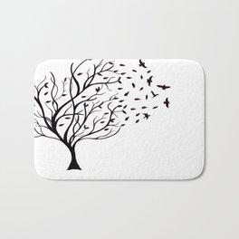 Tree Birds Bath Mat