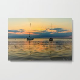 (Sailboats) At Bay Metal Print