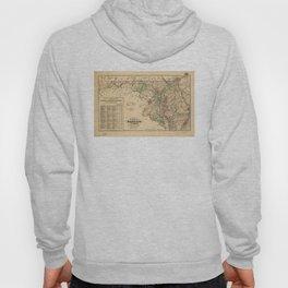 Vintage Maryland Railroad Map (1876) Hoody