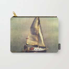 A Sailboat At Sea Carry-All Pouch