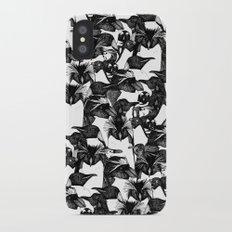 just penguins black white iPhone X Slim Case