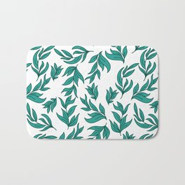 Wild Leaves / Clutter Pattern Bath Mat