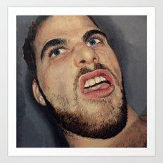 self portrait, annoyance and disgust Art Print
