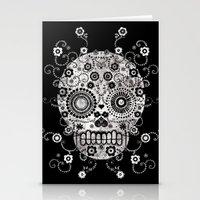 sugar skull Stationery Cards featuring Sugar Skull by Farnell