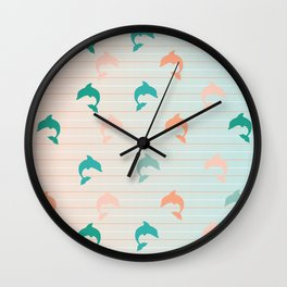 Delightful Dolphins Wall Clock
