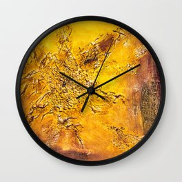 Abstract acrylic Scorched earth Wall Clock