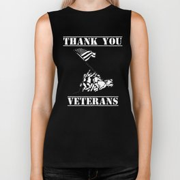 Thank You Veterans Patriotic Veterans Day Shirt Biker Tank