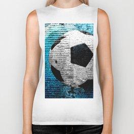 Soccer print variant 2 Biker Tank