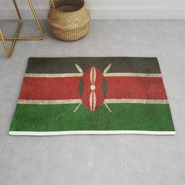 Old and Worn Distressed Vintage Flag of Kenya Rug