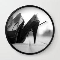heels Wall Clocks featuring Heels by sarahscamera