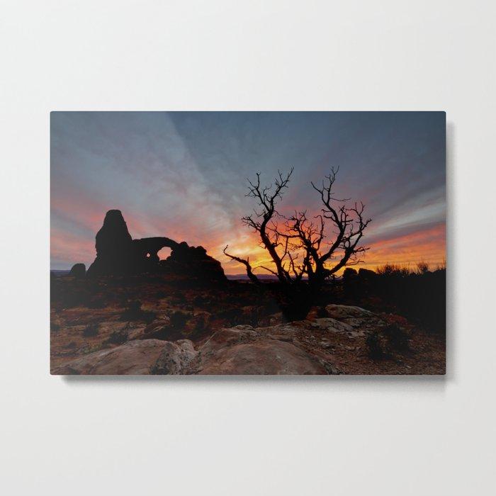 Moab Sunset  10/7/14 Metal Print