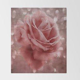 Vintage Dusty Rose Throw Blanket
