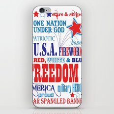 Stars & Stripes  iPhone & iPod Skin