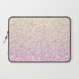 Champagne Gold and Pink Glitter Ombre Laptop Sleeve