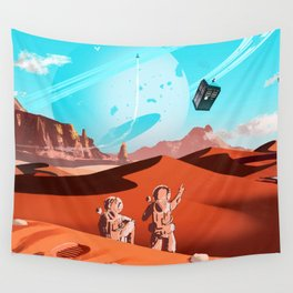 tardis space Wall Tapestry