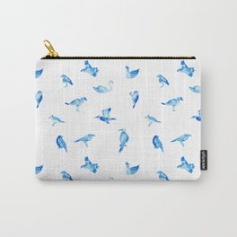 Blue Birds Pattern Carry-All Pouch