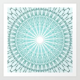 Mint Mandala Art Print